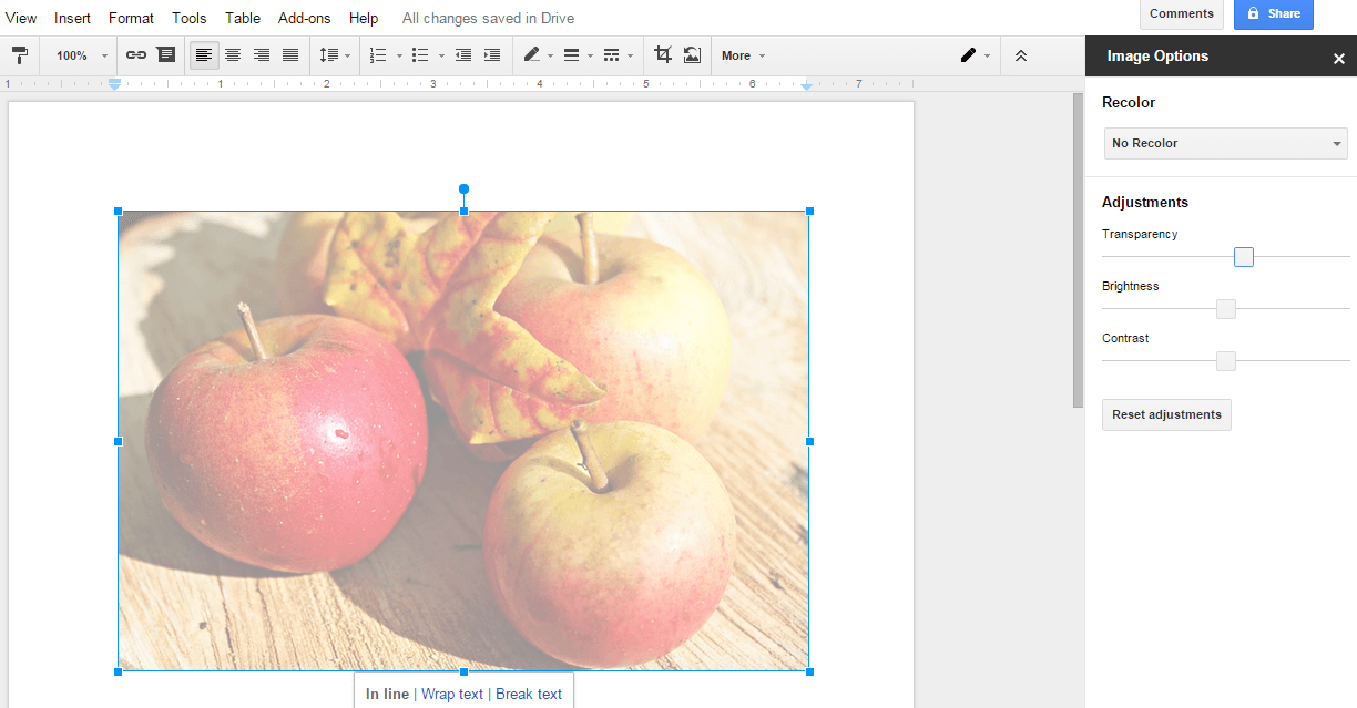 google docs direct to section in document