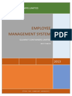 employee attendance management system documentation pdf