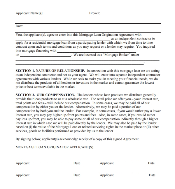 legal loan document template free