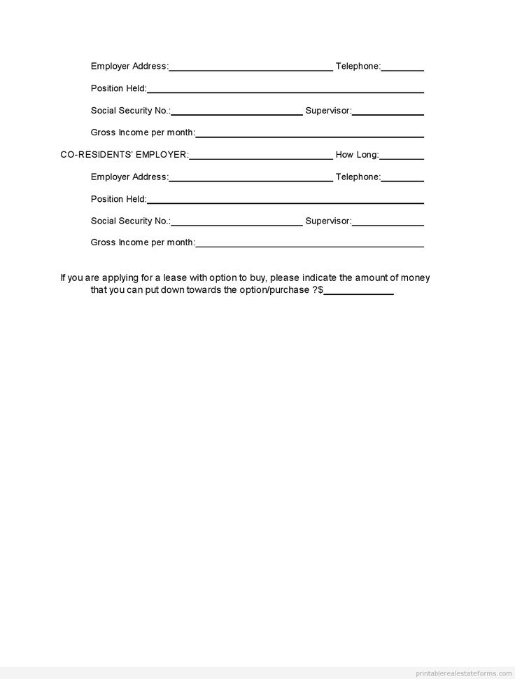 tenant application form word document