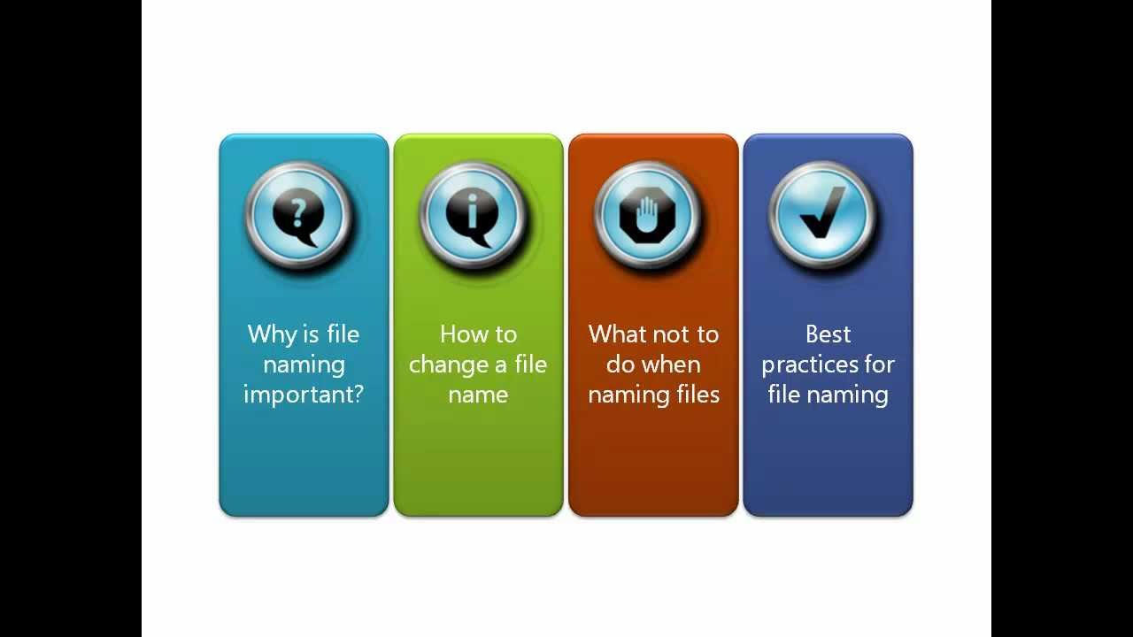 document naming conventions best practices