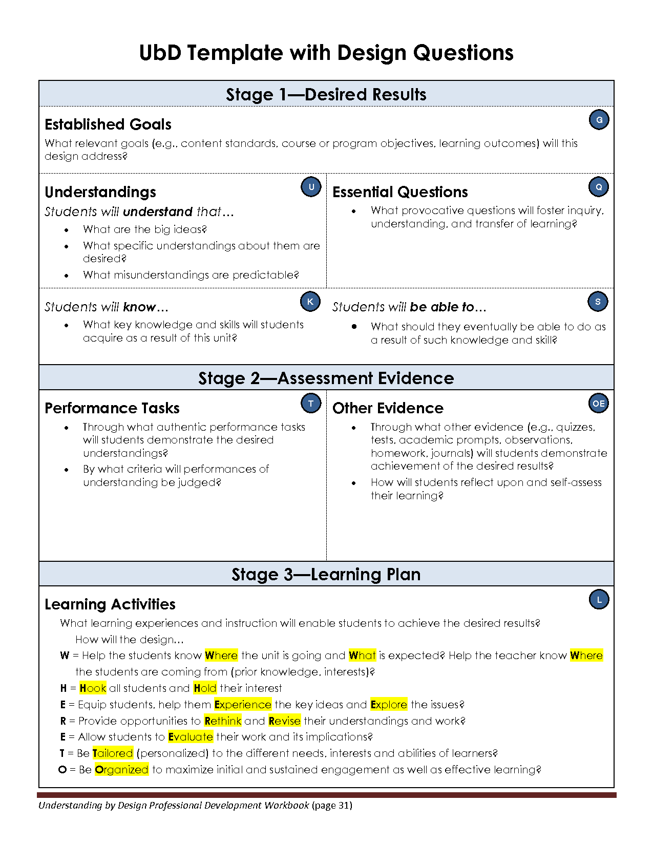 free unit plan template word document