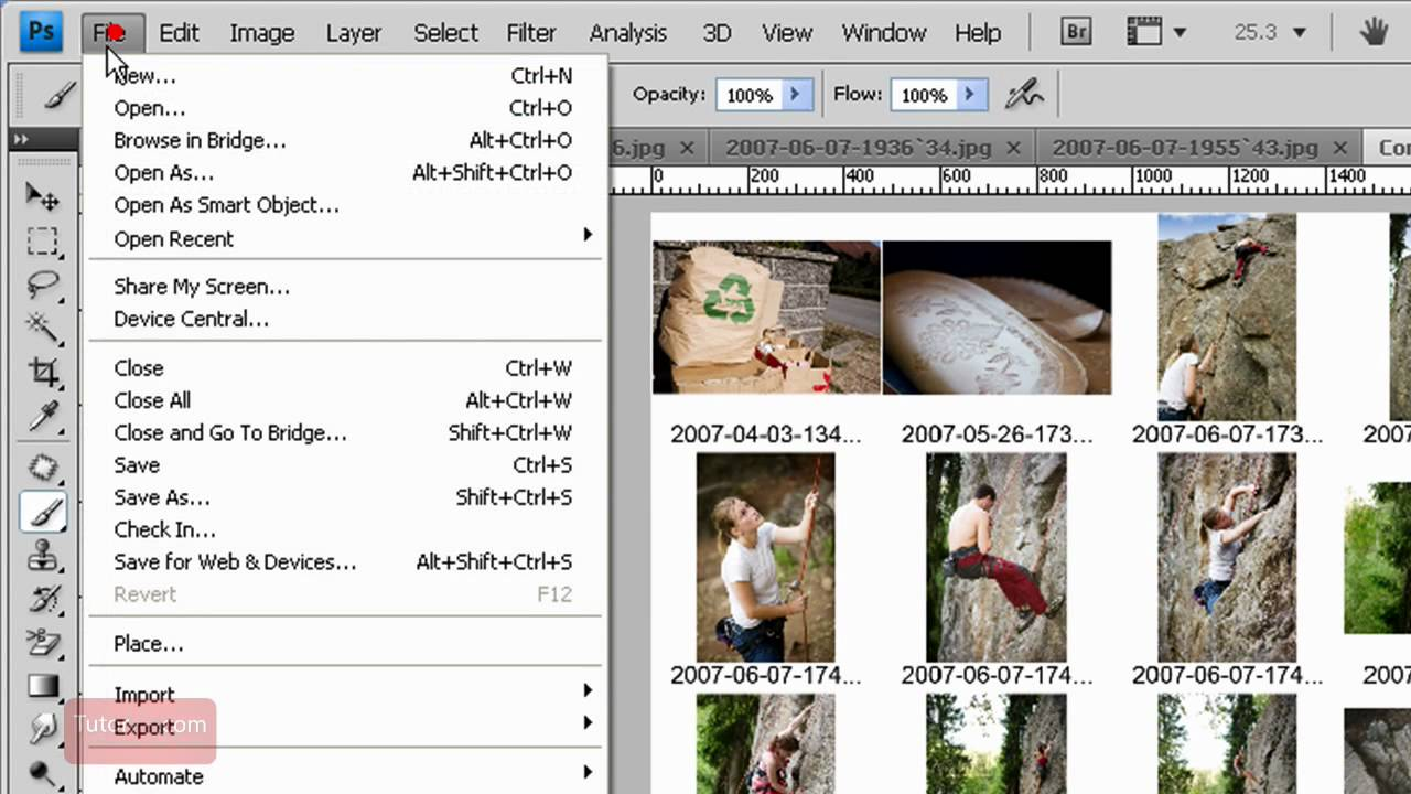 how to create a contact sheet document in photoshop