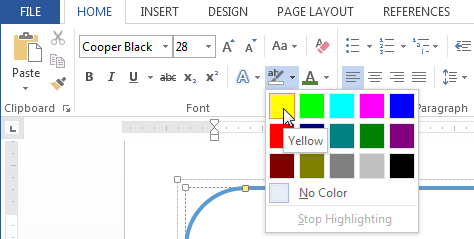 how to highlight an entire document