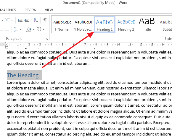 how to make bookmark in word document
