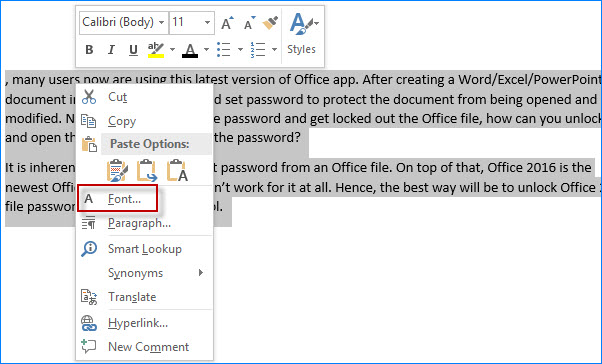 how to minimize word document