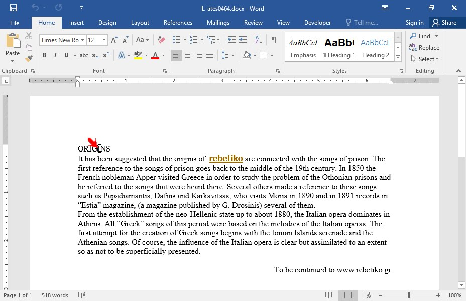 how to put headings in a word document