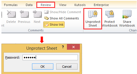 how to unlock excel document password protected