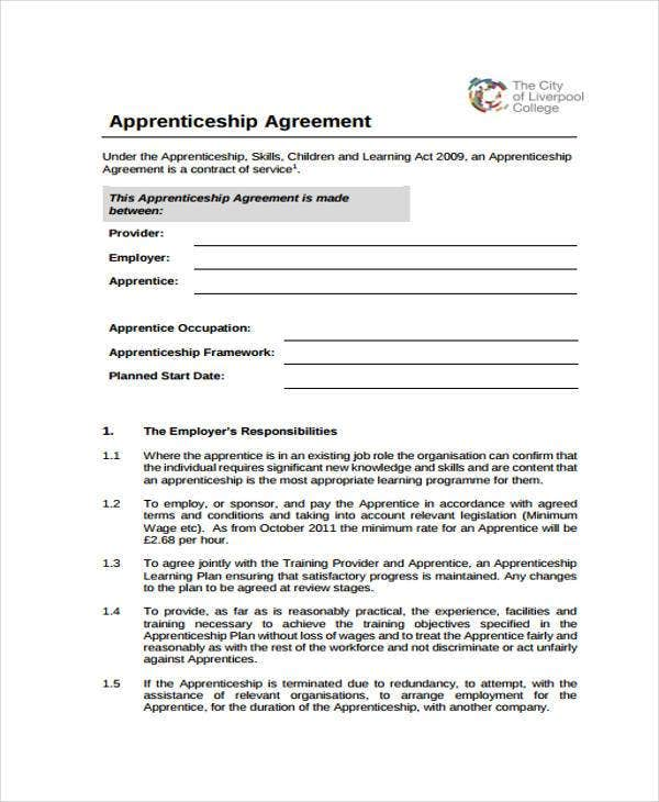 how to write an agreement document