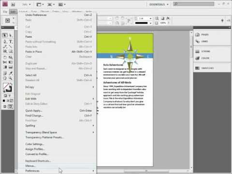 indesign how to.preview document