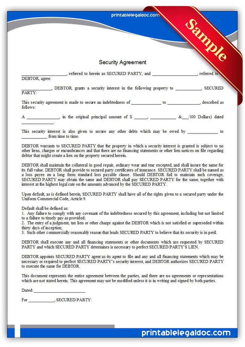 legal document for loan agreement in family