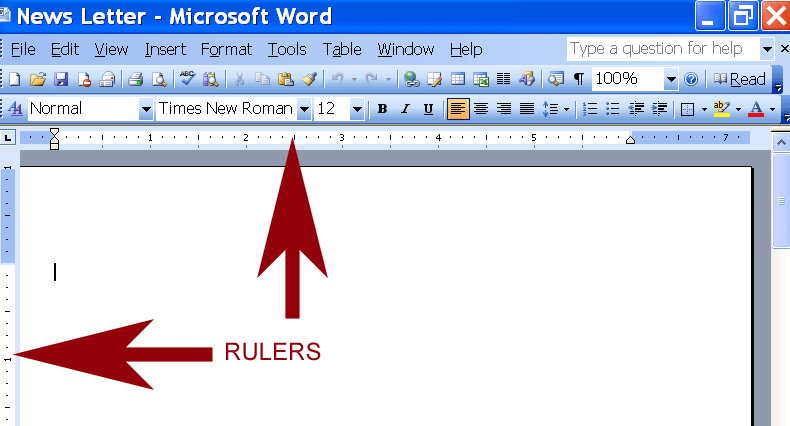 line on side of word document