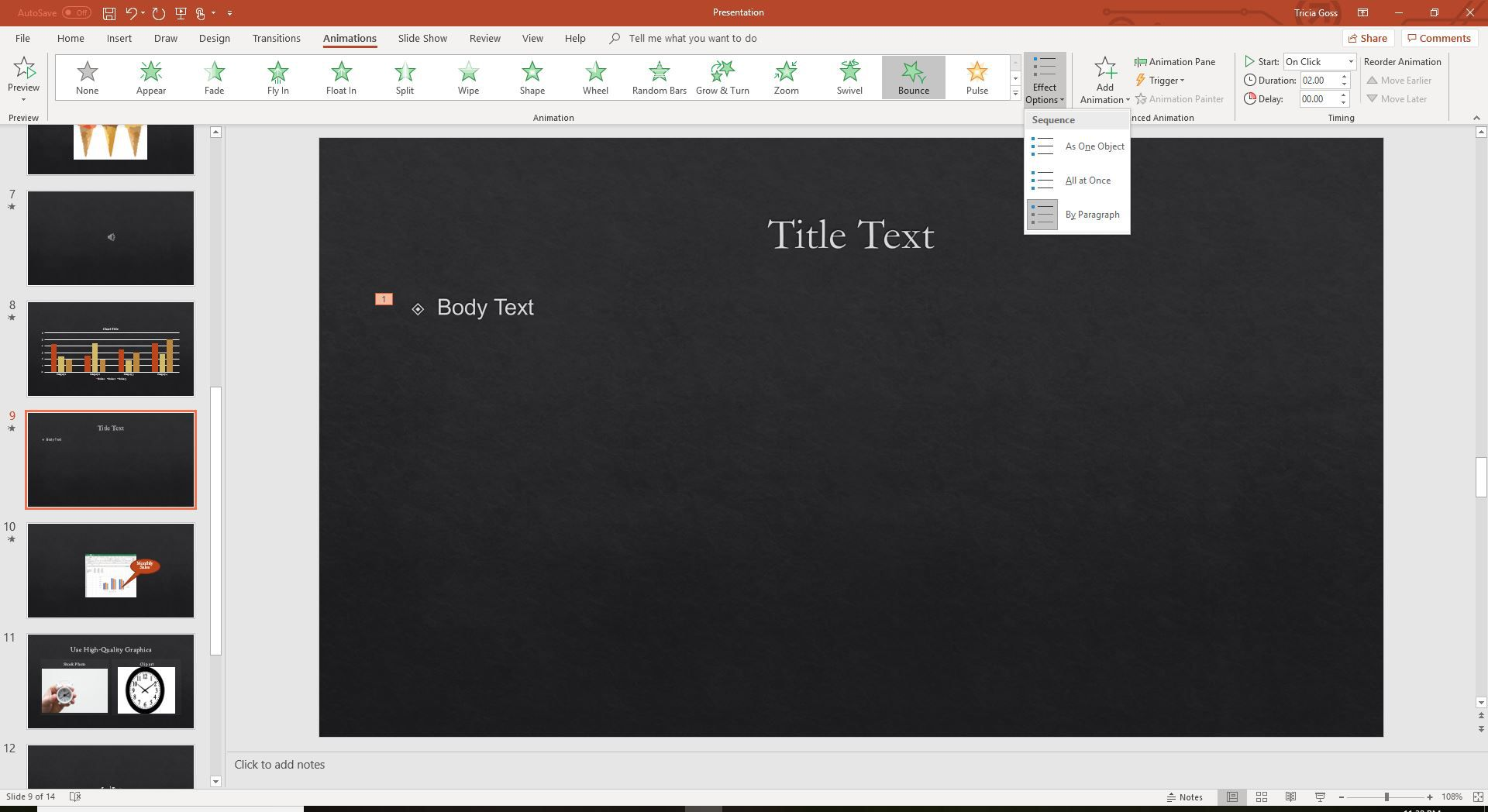 make a powerpoint into word document
