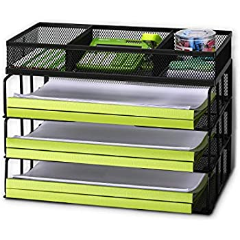 mesh 3 tier document tray