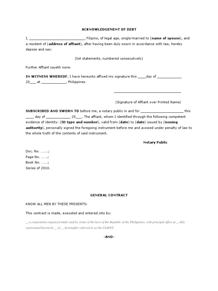 original witness acknowledgement document for security