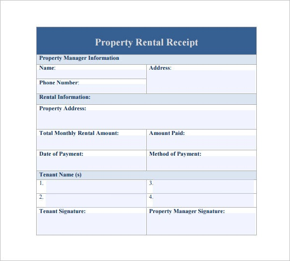 rent receipt format india word document download