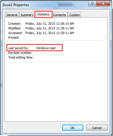 restricting time modified on word document