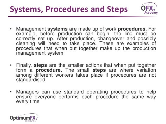 sample standard operating procedure document