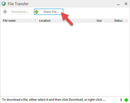 share a document via webex