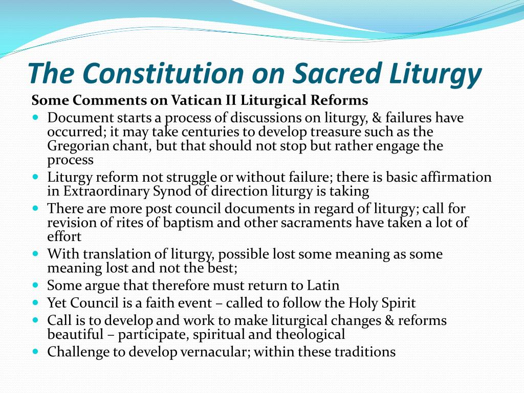 vatican document constitution on sacred liturgy