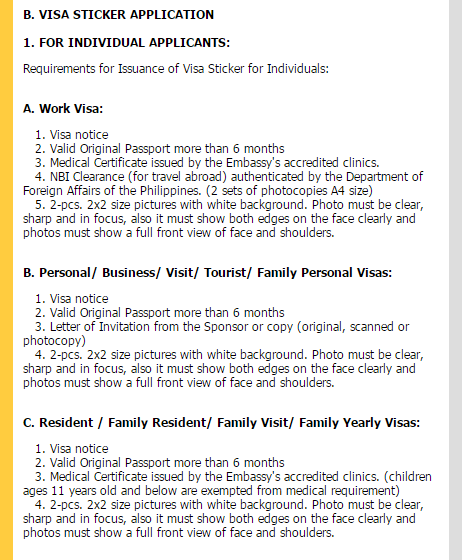 what documentation is required for visitor visa for wife