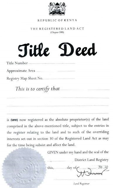 what is a transfer of land document