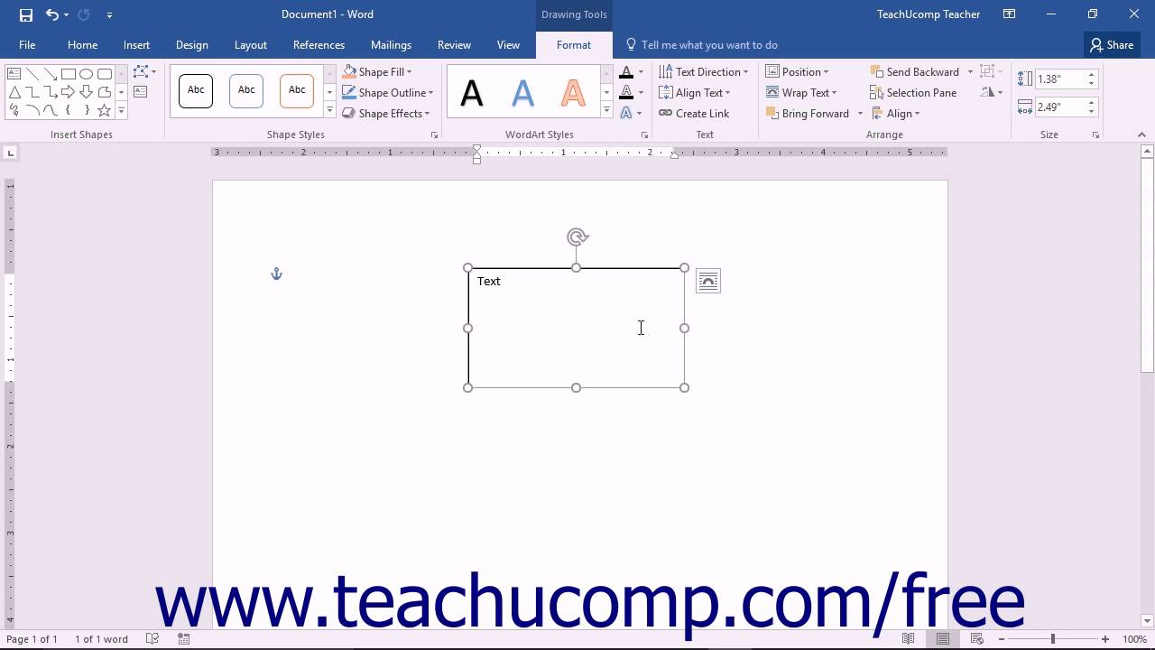 word document add check in box