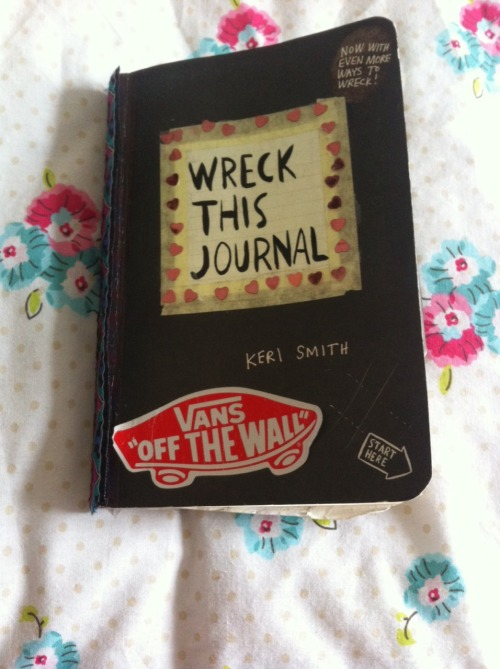 wreck this journal document time passing
